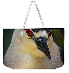 Night Heron Portrait Weekender Tote Bag by Mitch Shindelbower