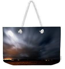 Weekender Tote Bag featuring the photograph Night In Iceland by Dubi Roman