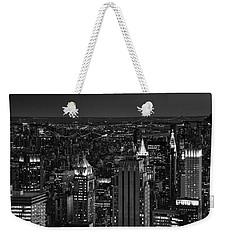 Night In Manhattan Weekender Tote Bag