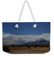Weekender Tote Bag featuring the photograph Night In The Alvord Desert by Cat Connor