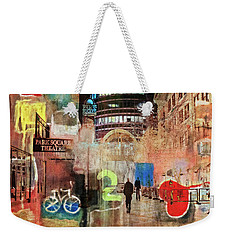 Weekender Tote Bag featuring the photograph Night In The City by Susan Stone