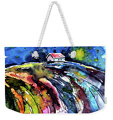 Weekender Tote Bag featuring the painting Night by Kovacs Anna Brigitta