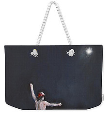 Weekender Tote Bag featuring the painting Night Life by Miroslaw  Chelchowski