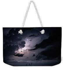 Night Lightening Weekender Tote Bag