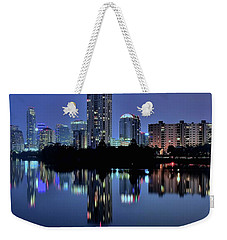 Night Lights Austin Texas 2016 Weekender Tote Bag