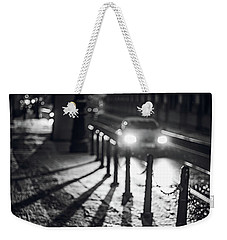 Weekender Tote Bag featuring the photograph Night Lights. Prague by Jenny Rainbow