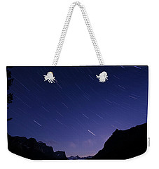 Weekender Tote Bag featuring the photograph Night Moves by Margaret Pitcher