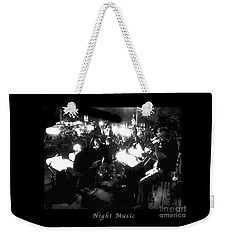 Night Music Poster Weekender Tote Bag by Felipe Adan Lerma