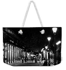 Night On St Peter Street In Black And White Weekender Tote Bag
