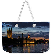Night Parliament And Big Ben Weekender Tote Bag