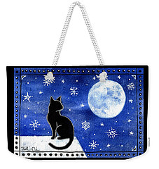 Night Patrol At Wintertime Weekender Tote Bag