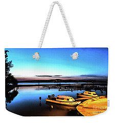 Night Port Painting Weekender Tote Bag