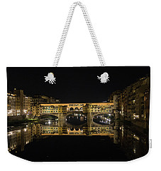 Night Reflections Of The Ponte Vecchio Weekender Tote Bag