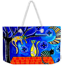 Night Shift - Cat Art By Dora Hathazi Mendes Weekender Tote Bag
