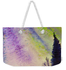 Weekender Tote Bag featuring the painting Night Sky by Allison Ashton