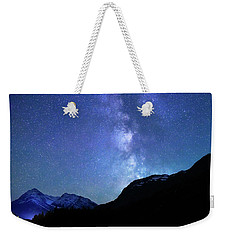 Weekender Tote Bag featuring the photograph Night Sky In David Thomson Country by Dan Jurak