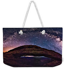 Night Sky Over Mesa Arch Utah Weekender Tote Bag