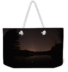 Night Sky Over The Pond Weekender Tote Bag