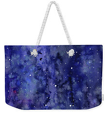 Night Sky Watercolor Galaxy Stars Weekender Tote Bag