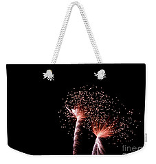 Weekender Tote Bag featuring the photograph Night Sparklers by Suzanne Luft