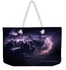 Night Storm Weekender Tote Bag