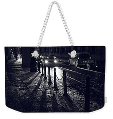 Weekender Tote Bag featuring the photograph Night Street Of Prague by Jenny Rainbow