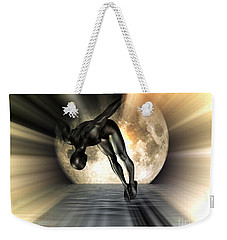 Night Swan Weekender Tote Bag