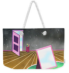 Weekender Tote Bag featuring the painting Night by Thomas Blood