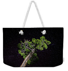 Weekender Tote Bag featuring the photograph Night Tree by T Brian Jones