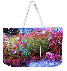 Night Trees Starry Lake Weekender Tote Bag