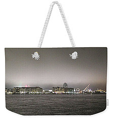 Night View Ocean City Downtown Skyline Weekender Tote Bag