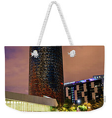Night View Of Torre Agbar Weekender Tote Bag
