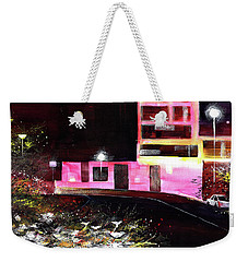Weekender Tote Bag featuring the painting Night Walk by Anil Nene