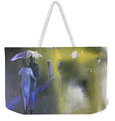 Night Walk In The Rain Weekender Tote Bag