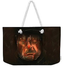 Weekender Tote Bag featuring the painting Night Watch by Jim Vance