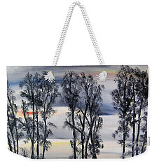 Weekender Tote Bag featuring the painting Nightfall Approaching by Marilyn  McNish