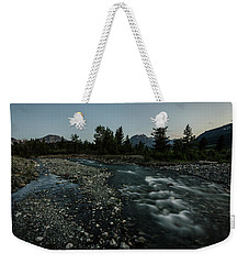Weekender Tote Bag featuring the photograph Nightfall In Montana by Margaret Pitcher