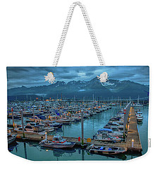 Nightfall On The Harbor Weekender Tote Bag