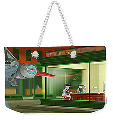 Weekender Tote Bag featuring the photograph Nighthawks Invasion by Peter J Sucy