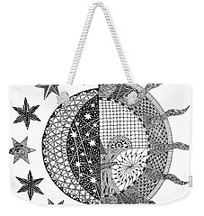 Nightime Daytime Tangle Weekender Tote Bag