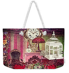 Weekender Tote Bag featuring the photograph Nightingale by Mo T