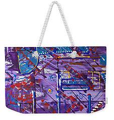 Weekender Tote Bag featuring the painting Nightlife Lights by J R Seymour