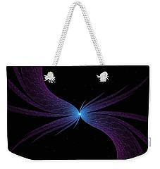 Weekender Tote Bag featuring the digital art Nightwing by Lea Wiggins