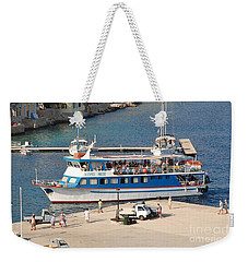 Nikos Express Docking At Halki Weekender Tote Bag