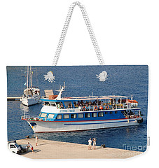 Nikos Express Ferry At Halki Weekender Tote Bag