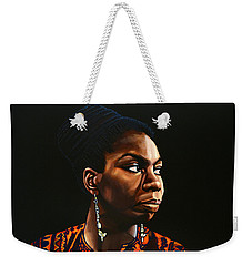Nina Simone Painting Weekender Tote Bag by Paul Meijering