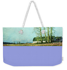 Weekender Tote Bag featuring the photograph Nisqually Barns by Jean OKeeffe Macro Abundance Art