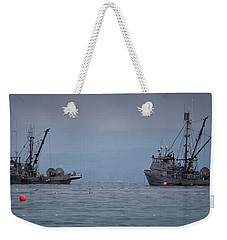 Weekender Tote Bag featuring the photograph Nita Dawn And Cape George by Randy Hall