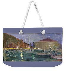 Nite Avalon Harbor - Catalina Island Weekender Tote Bag