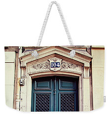 Weekender Tote Bag featuring the photograph No. 104 - Paris Doors by Melanie Alexandra Price